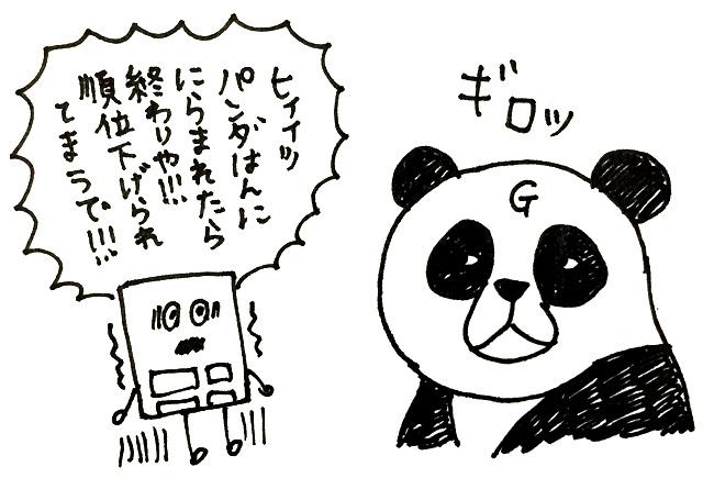 パンダの睨み