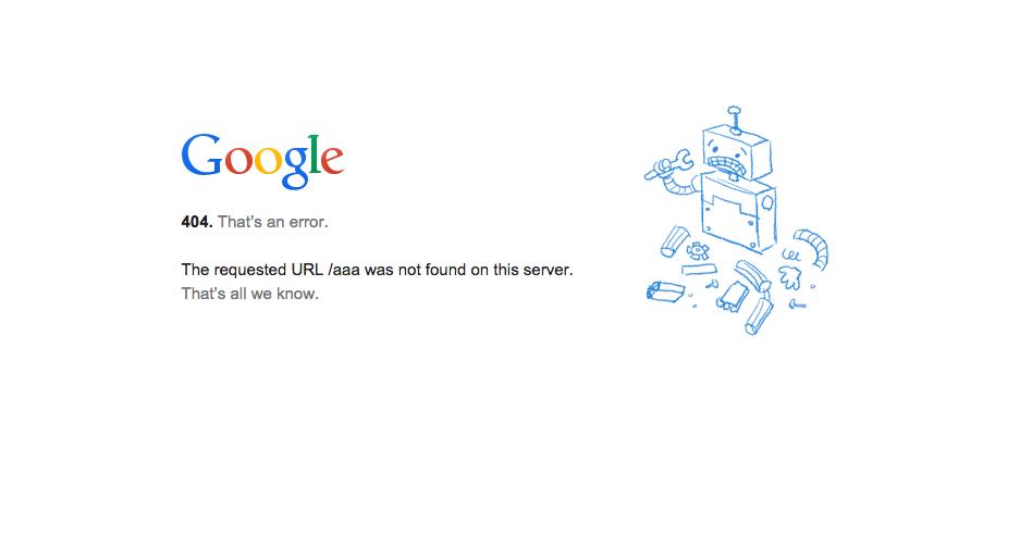 googleエラーページ